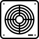 bathroom, electrical, extractor, fan, outline icon