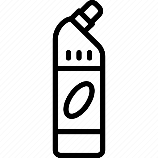 bathroom, bleach, cleaning, domestic, outline icon