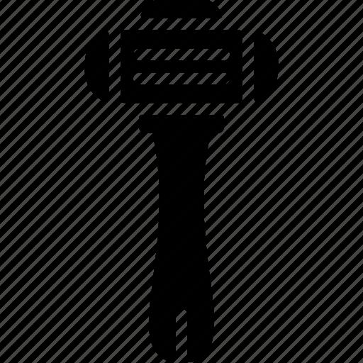 bathroom, razor, shave, solid icon