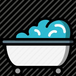 bath, bathroom, bubble, restroom icon