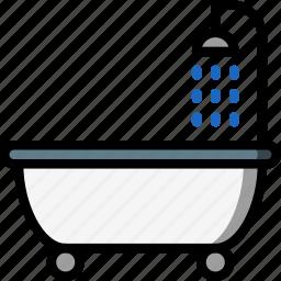 bathroom, bubble, restroom, shower icon