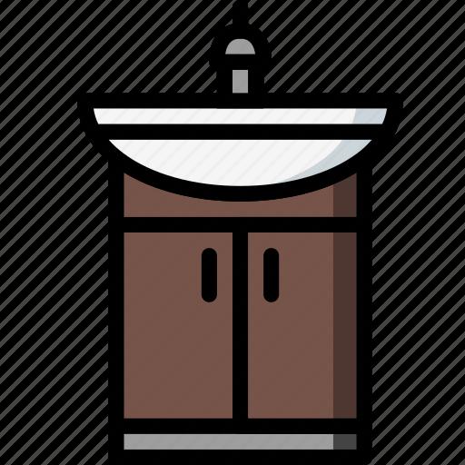 bathroom, cupboard, restroom, sink icon
