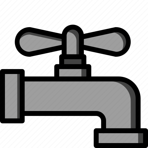 bathroom, color, fitting, plumbing, tap icon