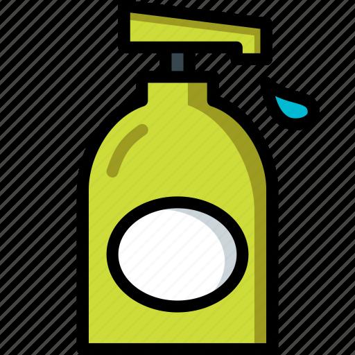 bathroom, clean, color, handwash, wash icon