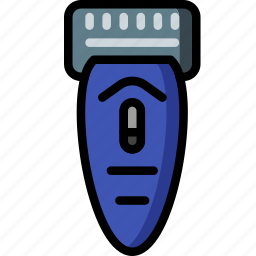 bathroom, color, electric, grooming, male, shaver icon