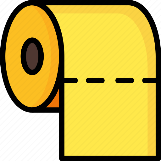 bathroom, cleaning, color, restroom, roll, toilet icon
