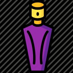 bathroom, beauty, bottle, color, objects, perfume icon