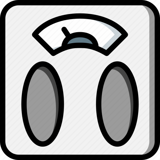 bathroom, color, measure, scales, weigh, weighing icon