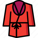 bath, bathroom, clothes, color, robe icon