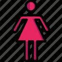 bathroom, color, female, sign