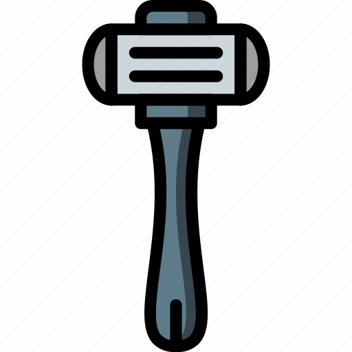 bathroom, color, grooming, male, objects, razor icon