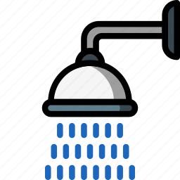 bathroom, color, head, shower icon