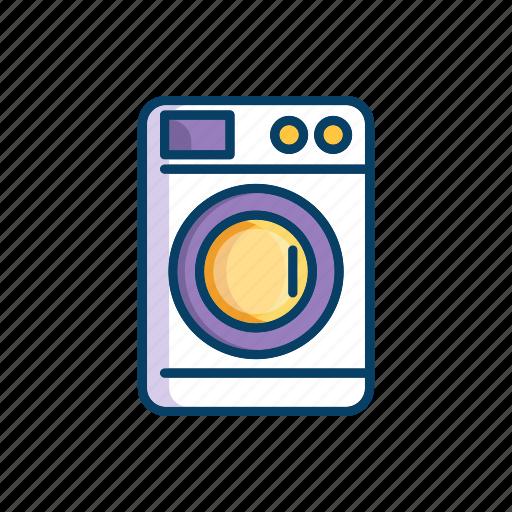 bathroom, line, machine, thin, washing icon