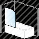 bath, bathroom, bathtub, bathtub screen, installation, solution, water icon