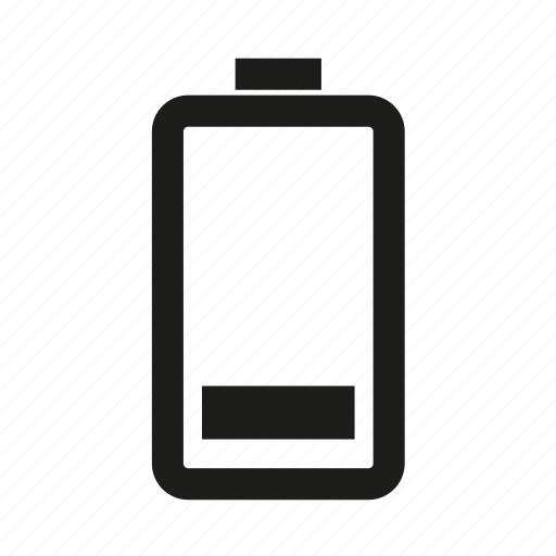 battery, cell, half, low battery icon