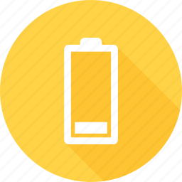 battery, battery status, low, low battery, low level icon