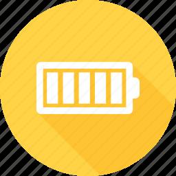 battery, battery status, full, full battery, full level icon