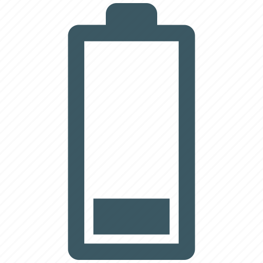 battery, empty, mobile, phone icon