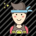 hair, head, headband, mind icon