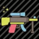 gun, light, machine, weapon icon