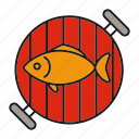 barbecue, barbeque, bbq, fish, food, grill, seafood icon