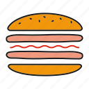 burger, cheeseburger, cooking, fast food, hamburger, sandwich icon