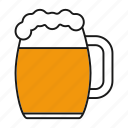 alcohol, ale, bar, beer, drink, glass, mug icon