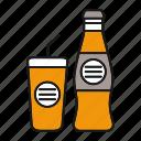 beverage, bottle, coke, drink, glass, juice, soda