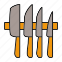 cooking, cut, cutlery, kitchen, kitchenware, knife, knives icon