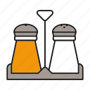 condiment, cooking, pepper, salt, seasoning, shaker, spice icon