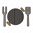 barbecue, barbeque, bbq, fork, grill, grilling, spatula icon