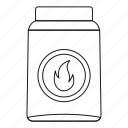 box, line, match, matchbox, matchstick, outline, thin icon