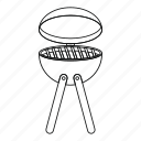 barbecue, bbq, food, grill, line, outline, thin icon