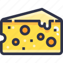 cheese, food, slice icon