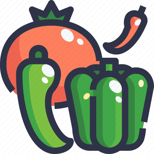 Chilli, spicy, tomato, vegetables icon - Download on Iconfinder