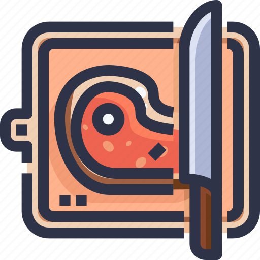 Barbecue grill, bbq, board, chopping, food, kebab icon - Download on Iconfinder