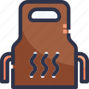 apron, barbecue grill, bbq, food, kebab icon