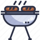 barbecue grill, bbq, food, grilled, kebab, meat icon