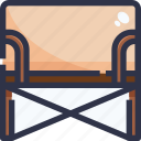 canvas, chair, equipment, furniture icon