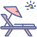 beach, chair, relax, rest icon