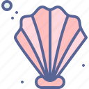 beach, pearl, sea, shell icon