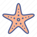 beach, marine, sea, starfish icon