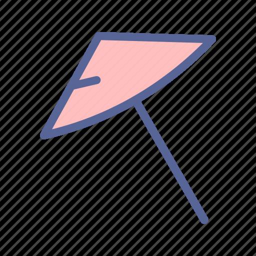 beach, summer, umbrella, vacation icon