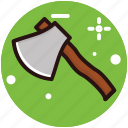 axe, cutting timber tool, hatchet, tool, weapon icon