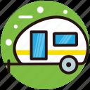 camper van, camping wagon, caravan, travelling in caravan, vanity van