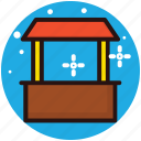 drinks kiosk, food and drinks, kiosk, refreshment, takeaway hut icon