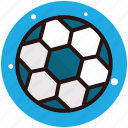 football, kick ball, playing ball, soccer, spherical ball icon