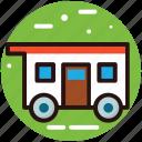 camper van, camping wagon, caravan, travelling in caravan, vanity van icon