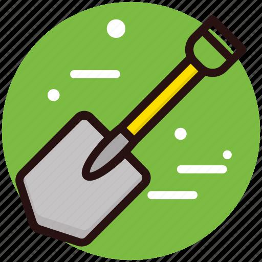 Digging tool, gardening tool, shovel, spade, tool icon - Download on Iconfinder