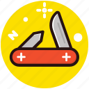 folding knife, jack knife, knife, pocket knife, utility knife icon